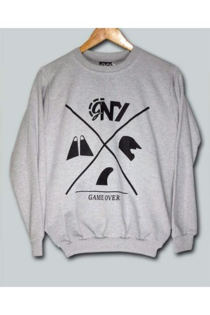 Game Over Gray Sweatshirt